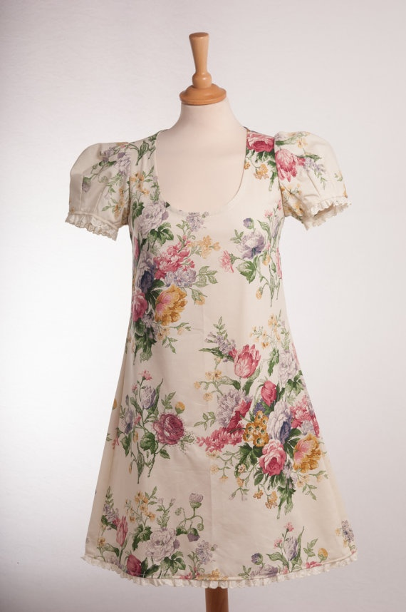 Vintage fabric embroidered dress by pinkyliz on Etsy, £25.00