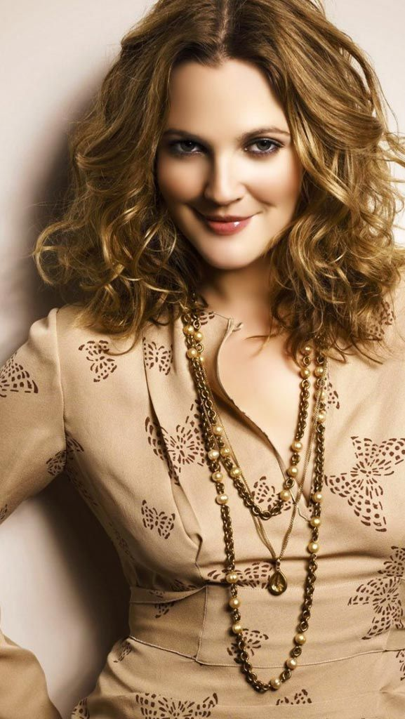 Drew Barrymore// I love her top. Plus she looks beautiful pictured here.