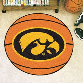 NCAA University of Iowa Basketball Mat