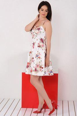 Mezuniyet ve Balo Elbise Modelleri, En Trend Düğün Nişan Abiye ve Elbiseleri En İyi Fiyatlarla! Detayları Göster İp Askılı Yaka Çiçekli Beyaz Elbise