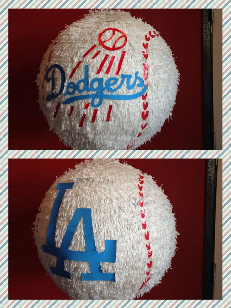 L A Dodgers Baseball Pinata Party Pinterest