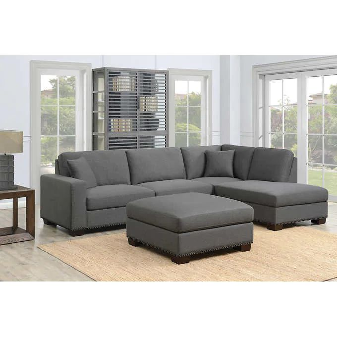 Best Thomasville Artesia 3 Piece Fabric Sectional With Ottoman 640 x 480