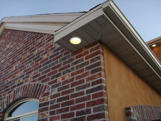 Brighton Electric Soffit Recessed Lighting Exterior