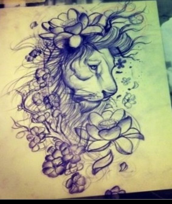 Tiger Tattoos And Flower: 7 Best Ideas About Lion And Flowers On Pinterest