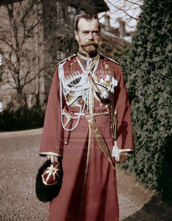Tsar Nicholas II in Cossack uniform