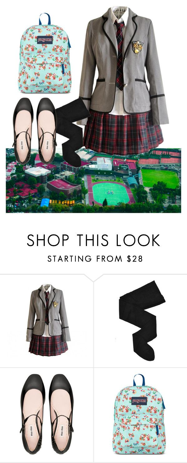 """""""School days  (Mexico)"""" by medicicapetiens ❤ liked on Polyvore featuring HYD, Miu Miu and JanSport"""