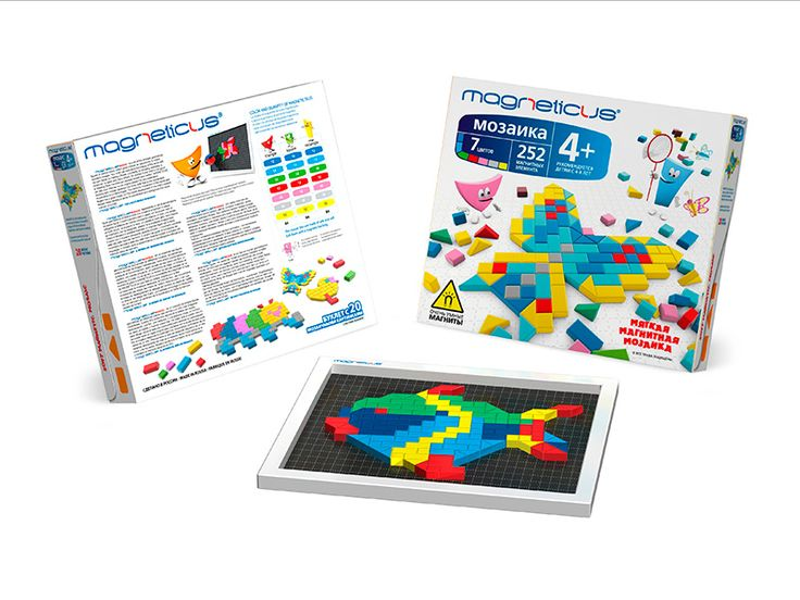 Soft Magnetic Mosaic (252 elements) 4+ Gives your child an opportunity to create wonderful images