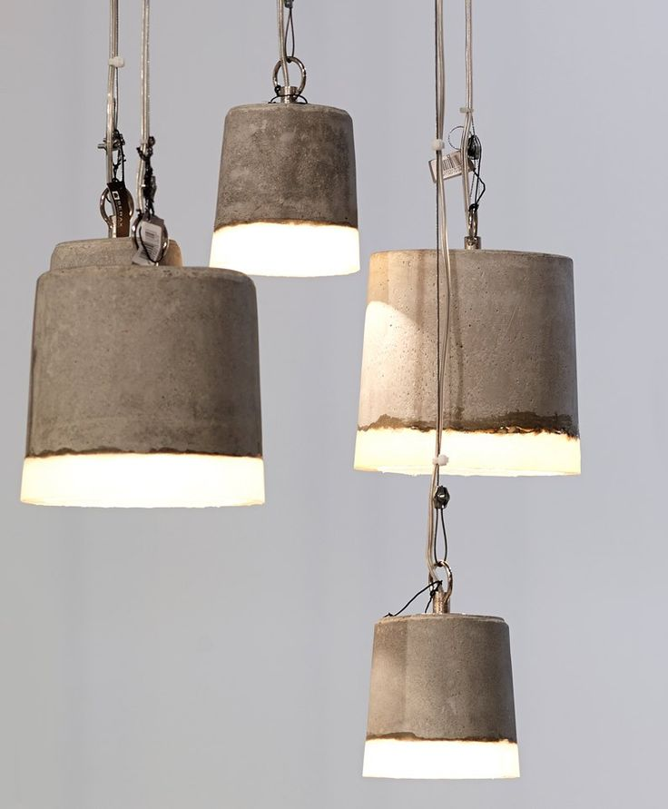 """Benton"" Pendent Lights - Concrete and Silicone"