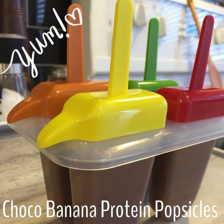 chocolate Protein popsicles
