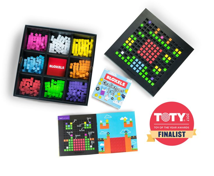 Bloxels. Kids use the poxel board to create their own