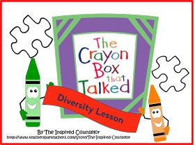 The Inspired Counselor: Diversity Lesson- The Crayon Box that Talked Lesson
