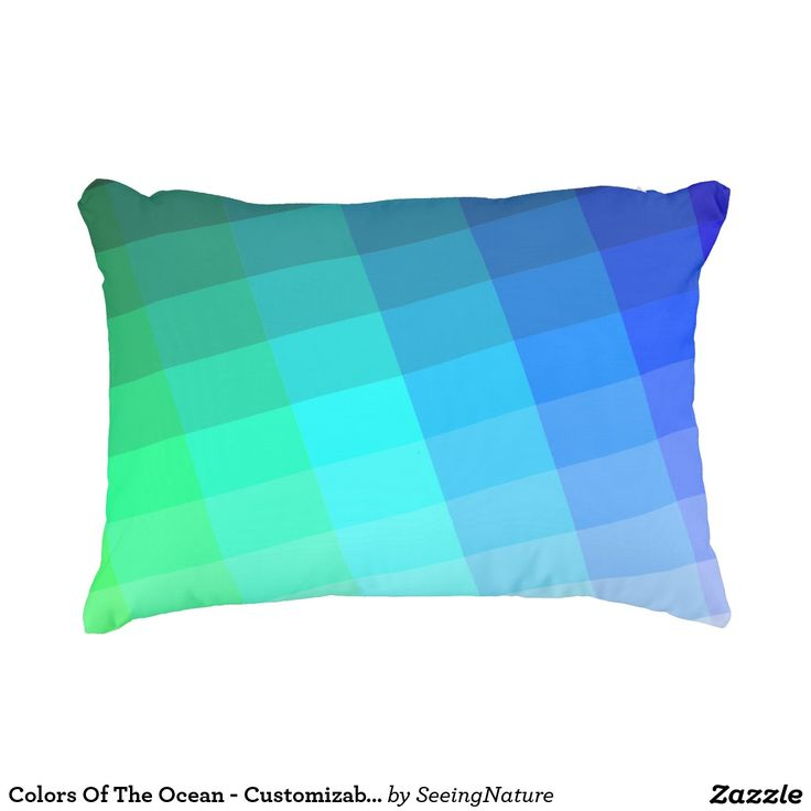 Colors Of The Ocean - Customizable Accent Pillow