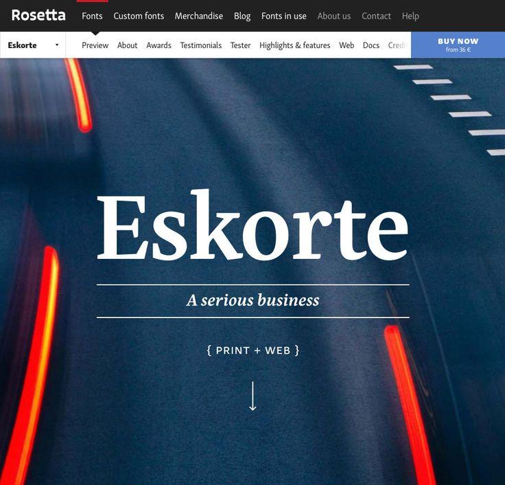 Eskorte, by Rosetta Type