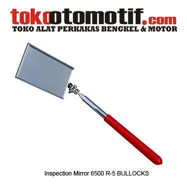 Inspection Mirror 6500 R-5 BULLOCKS - alat bantu kaca lihat part yang sulit dijangkau  Kode : 170151 Nama : Inspection Mirror Merk : BULLOCK'S Tipe : 6500 R-5 Berat Kirim : 1 kg  Dimensi : Panjang Tuas : 45 cm Panjang X Lebar : 9X5 cm  #inspectionmirror #kacainspeksi #kacabertangkaipanjang