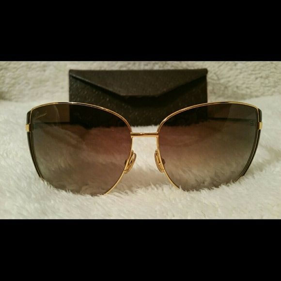 Authentic Gucci Cateye Sunglasses Brown and gold Cateye, light scratches that won't impair vision Gucci Accessories Sunglasses