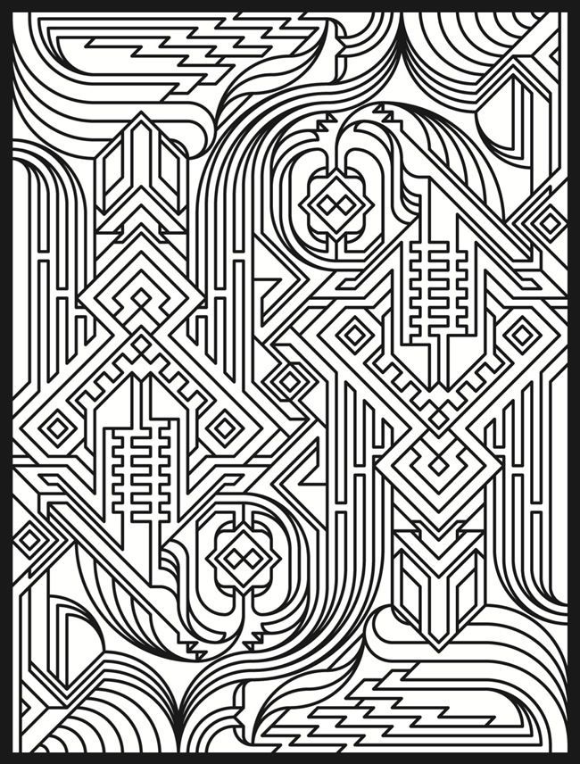 Trippy coloring colouring pages for adults