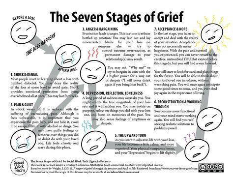 Stages of Grief Worksheet | The Seven Stages of Grief| The Seven Stages of Grief (click to download readable PDF version)  Hmmm, interesting! Description from pinterest.com. I searched for this on bing.com/images