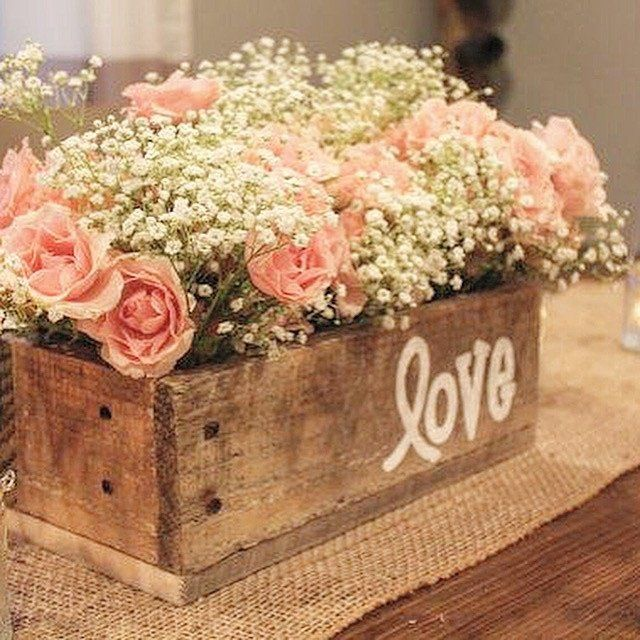 Don't miss out on this gorgeous hand painted rustic centerpiece planter! Perfect for any event, home or office! Each box is handcrafted with natural lightweight birch wood. Letters are hand painted fo