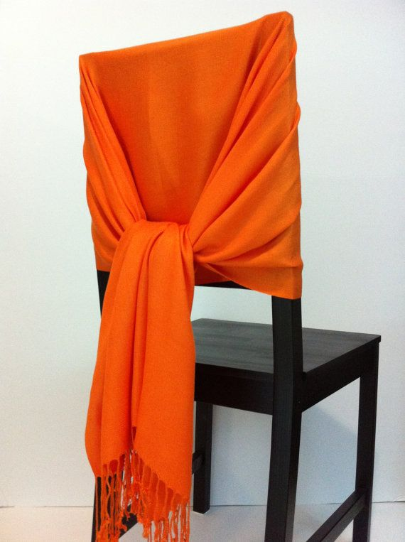 Orange pashmina  pashmina scarf pashmina shawls by WeddingShawls, $11.00