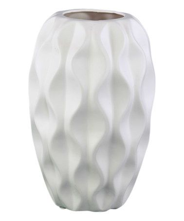 This White Round Dimple Vase is perfect! #zulilyfinds