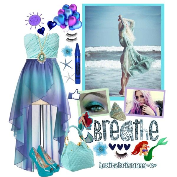 """Mermaid inspired outfit"" by heyitzbriannaa on Polyvore"