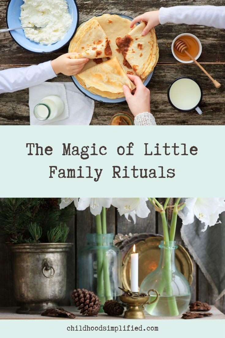 Rituals give life meaning, depth and a beautiful