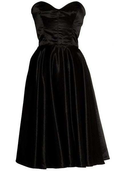20% OFF Stunning Silk 50s Style Black Dress UK 12  $123 + shipping