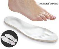 Wish | Hot Selling Unisex All Size Anti-Arthritis Memory Foam Shoe Insoles (Color: White)