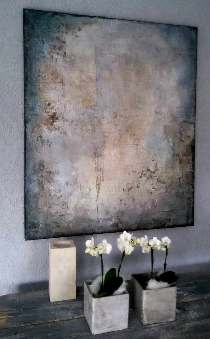 white painting 100x120 x4 Sonja Bittlinger