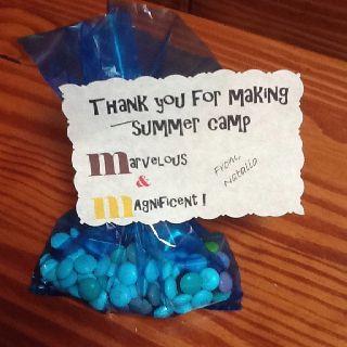 M Summer camp gift