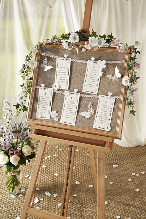 DIY Vintage Wedding Table Chart - Hobbycraft Blog