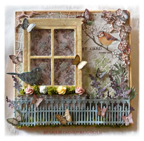 Mixed media canvas by Nicola AKA Paper Profusion via Marjie Kemper's Tuesday's Texture Weekly Blog Series