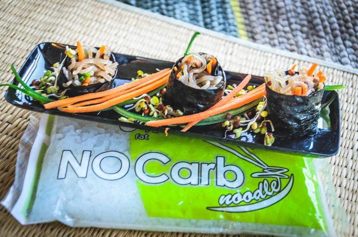 NoCarb sushi angyalhaj tésztából   Klikk a képre a recept megtekintéséhez!