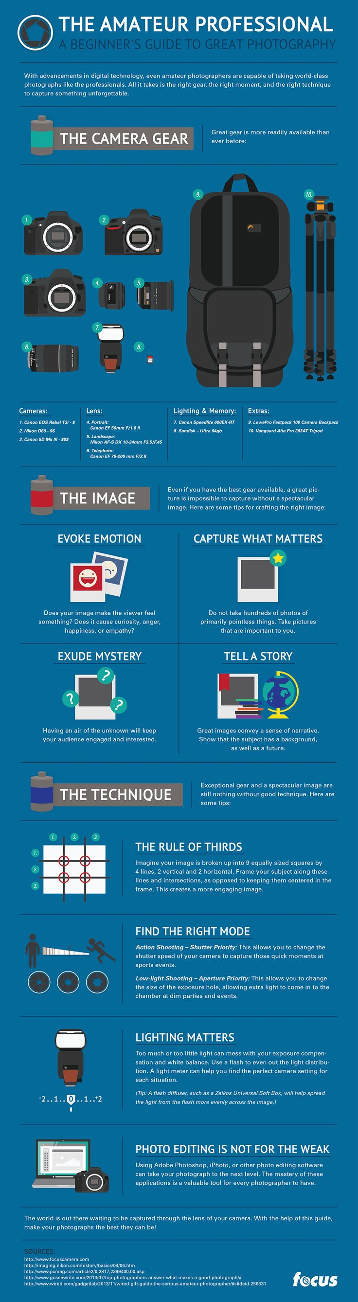 Infographic: The Amateur Professional: A Beginner's Guide to Great Photography