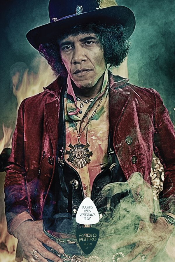 Obama Hendrix - Radio Metro FM by César Sepúlveda, via Behance