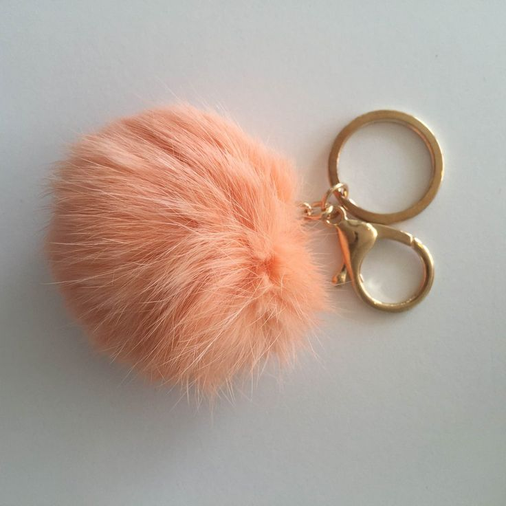 Crushes | Rabbit Fur Key Ring Single Puff | Black, Grey, Navy, Cream, | Collected by LeeAnn Yare