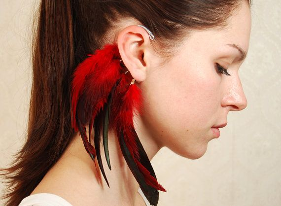 I'm not one for promoting fashion using feathers but this was an interesting take.