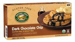 chocolate chip waffles, nature's path organic, organic waffles, non-gmo, non gmo, gluten free