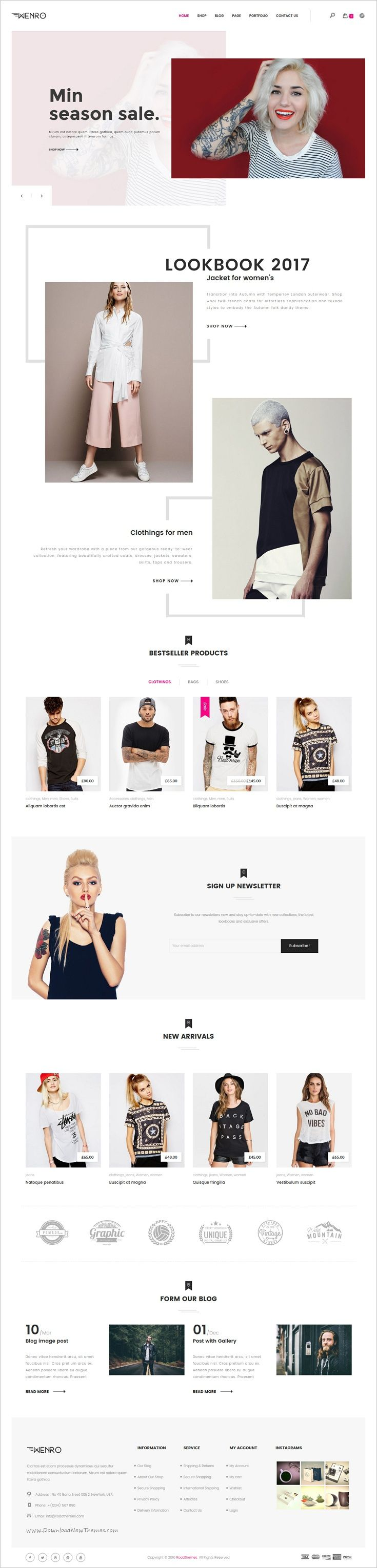 Wenro is a wonderful responsive WooCommerce #WordPress theme for multipurpose #fashion #shop eCommerce website with 15+ stunning homepage layouts download now➩ https://themeforest.net/item/wenro-multipurpose-woocommerce-wordpress-theme/18312301?ref=Datasata
