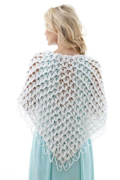 Free Crochet Pattern L32001 Bridal Shawl : Lion Brand Yarn ...