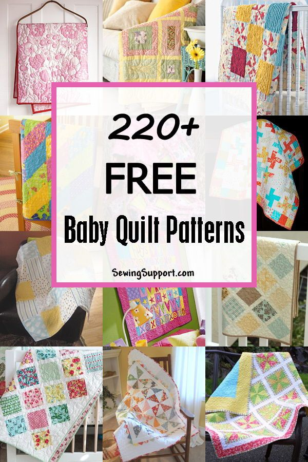 260+ Free Baby Quilt Patterns | Bordados | Bordado, Acolchados