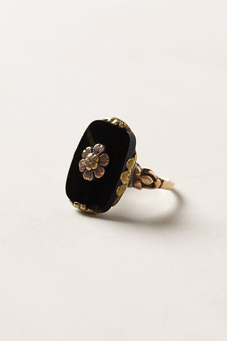 Vintage Onyx Bloom Ring by #shopFiligree anthropologie.com