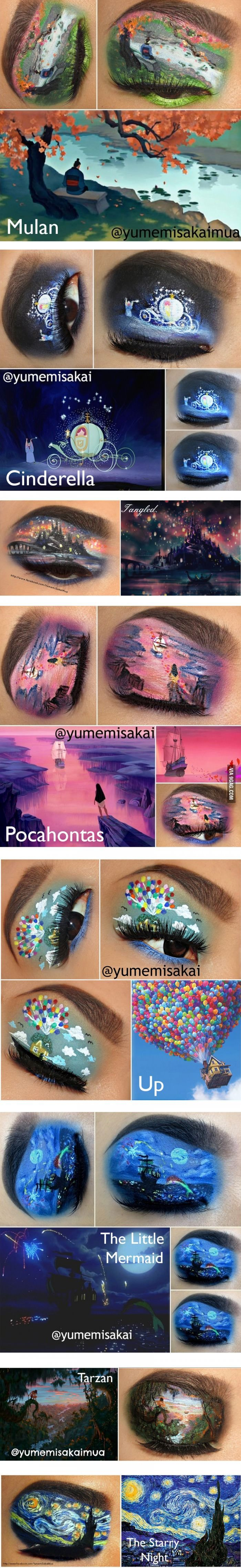 Disney (and other) Eye Makeup Art