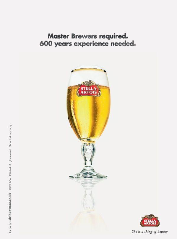 Stella Artois - Master Brewers Required