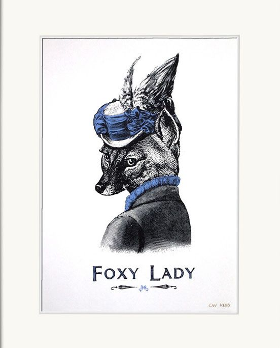 Foxy Lady by Chase and Wonder http://www.sandersofoxford.com/images/stock/30060.jpg