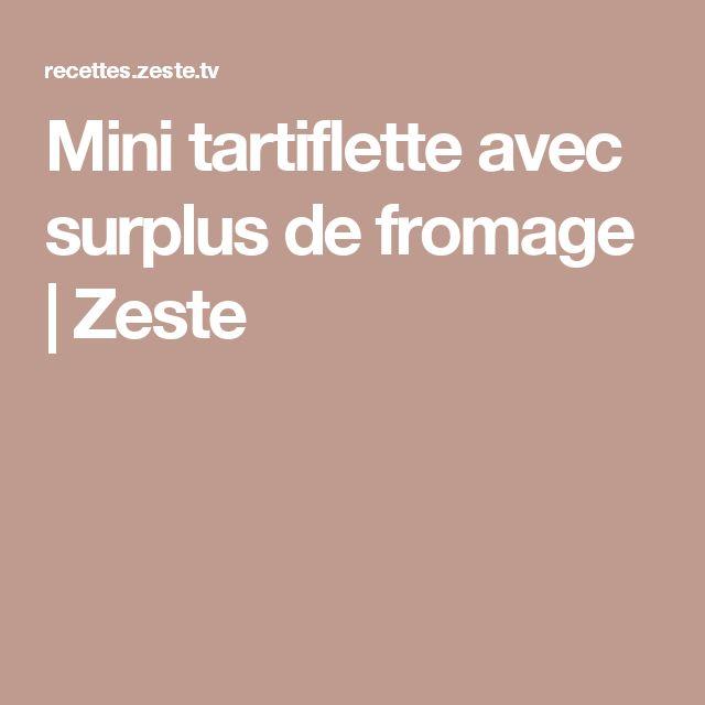 Mini tartiflette avec surplus de fromage | Zeste