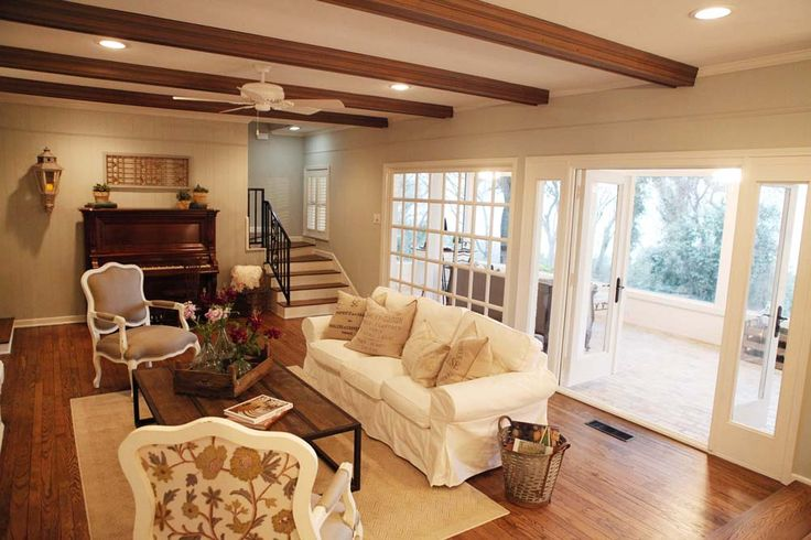 Fixer upper french country home sweet home pinterest for Fixer upper living room designs