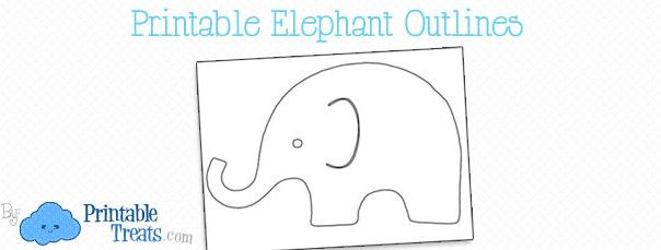 Free Printable Elephant Outline Fish Themed Baby Shower