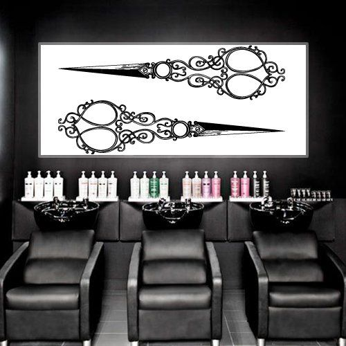 1910 best images about wall decal decor stiker on pinterest vinyls vinyl art and all seeing eye - Stickers salon design ...