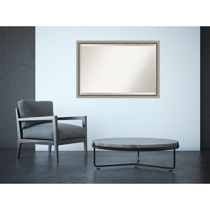 Bel Volto Silver 39 in. x 27 in. Contemporary Framed Mirror